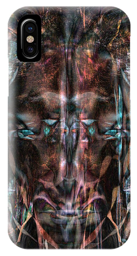 Deep IPhone X Case featuring the digital art Oa-3971 by Standa1one