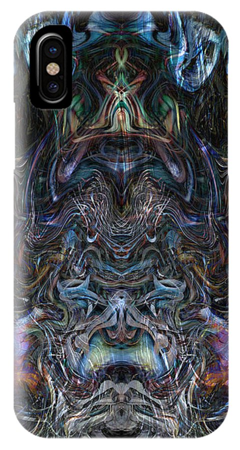 Deep IPhone X Case featuring the digital art Oa-4543 by Standa1one