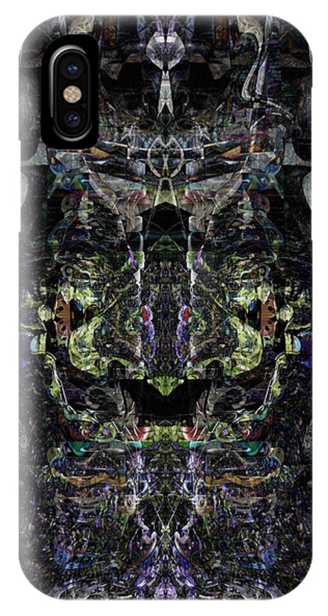 Deep IPhone X Case featuring the digital art Oa-4857 by Standa1one