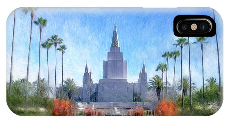 Oakland IPhone X Case featuring the painting Oakland Temple No. 1 by Geoffrey C Lewis