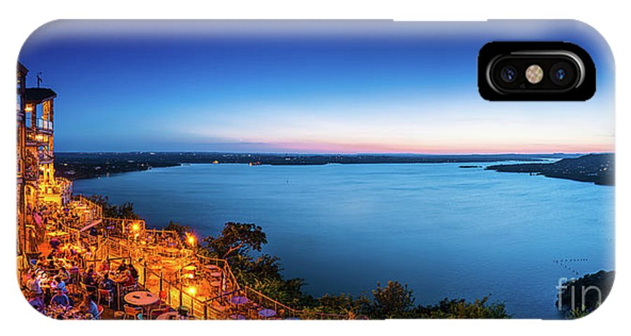 Oasis At Lake Travis IPhone X Case featuring the photograph Oasis At Night by Tod and Cynthia Grubbs