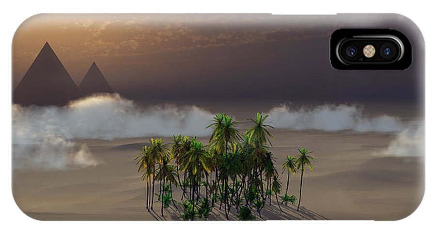 Deserts IPhone Case featuring the digital art Oasis by Richard Rizzo