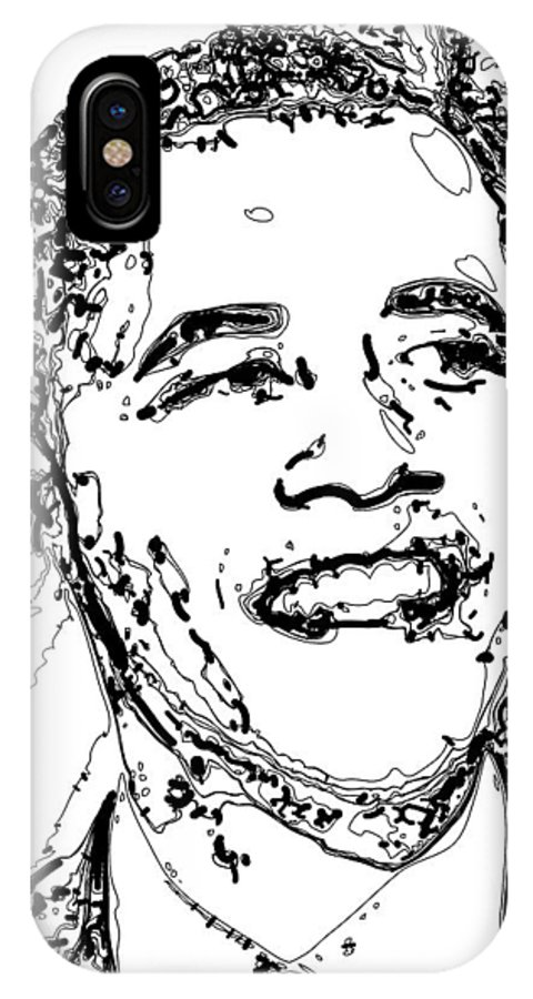 American IPhone X Case featuring the digital art Obama by Rabi Khan