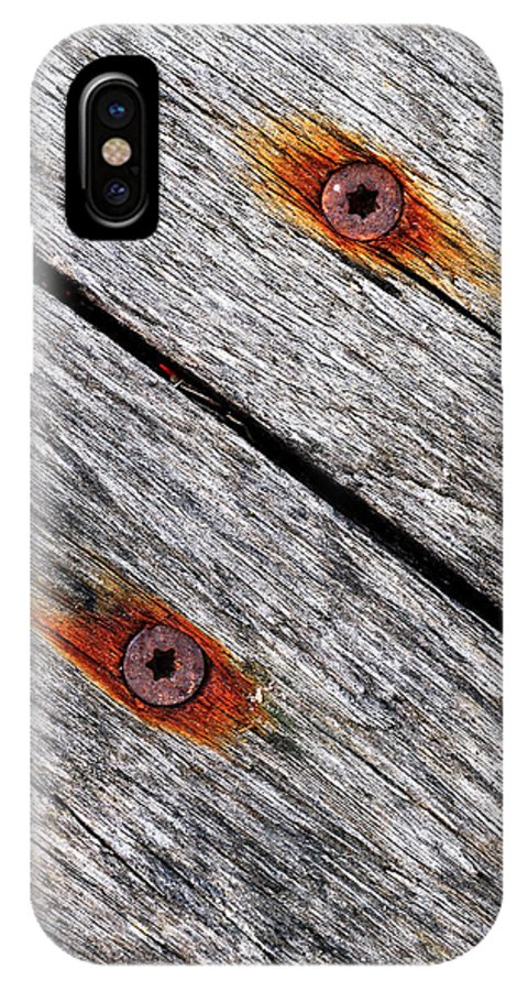 Oblique...hardness IPhone X / XS Case featuring the photograph Oblique...hardness by Tom Druin