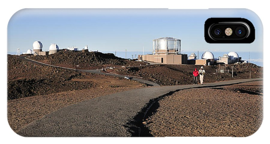 Observatories IPhone X Case featuring the photograph Observatories On Haleakala by Andy Smy