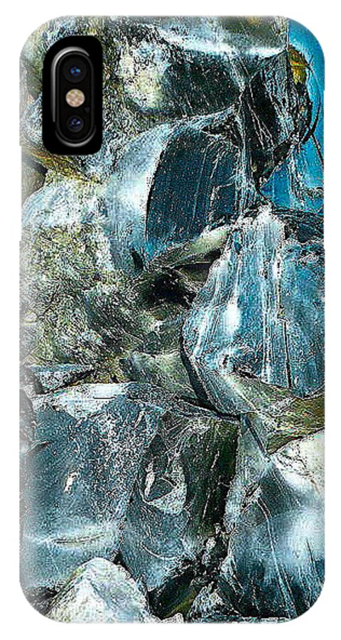 Obsidian In Newberry National Volcanic Monument IPhone X Case featuring the photograph Obsidian In Newberry National Volcanic Monument, Oregon by Ruth Hager