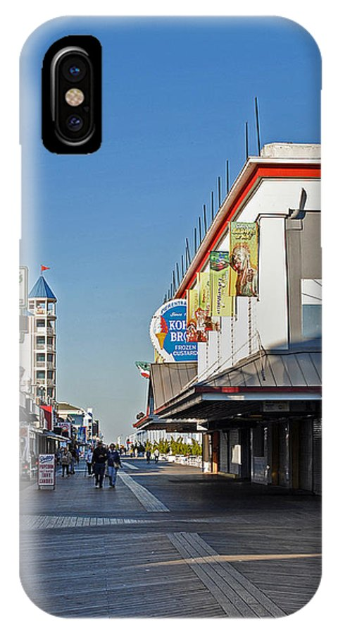 Fair IPhone X Case featuring the photograph Oc Boardwalk by Skip Willits