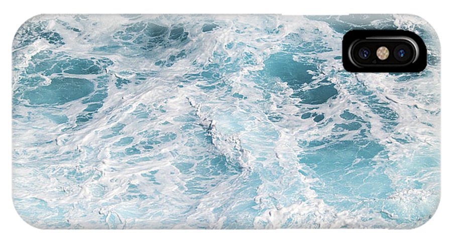 Fine Art Photography IPhone X Case featuring the photograph Ocean Abstract by Patricia Griffin Brett