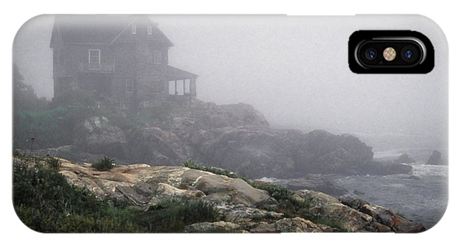 Fog IPhone X Case featuring the photograph Ocean Avenue House In Fog by Samuel M Purvis III