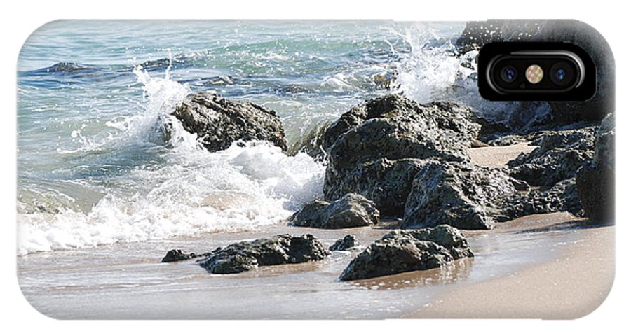 Ocean IPhone X Case featuring the photograph Ocean Drive Rocks by Rob Hans