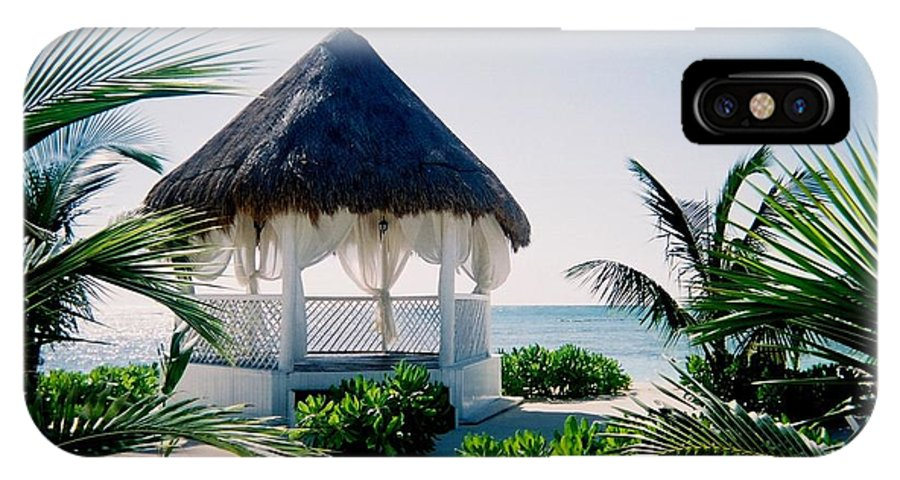 Resort IPhone X Case featuring the photograph Ocean Gazebo by Anita Burgermeister