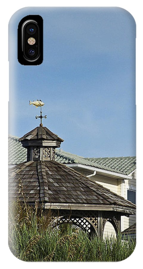 Ocean IPhone X Case featuring the photograph Ocean Isle Fish Weathervane by Teresa Mucha