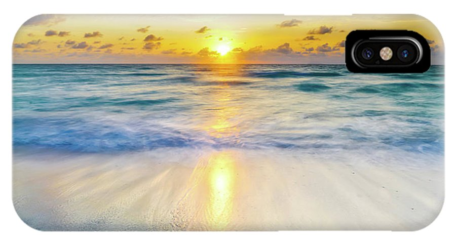 America IPhone X Case featuring the photograph Ocean Reflections At Sunrise by DAC Photography