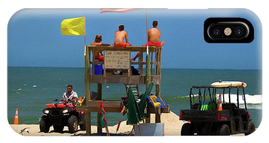 Ocean IPhone X Case featuring the photograph Ocean Rescue by R Douglas VanWynen