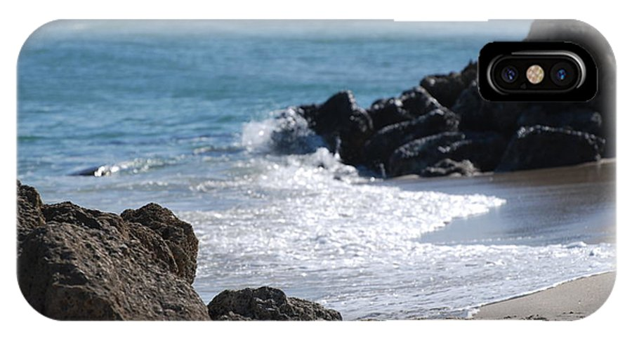 Sea Scape IPhone X / XS Case featuring the photograph Ocean Rocks by Rob Hans