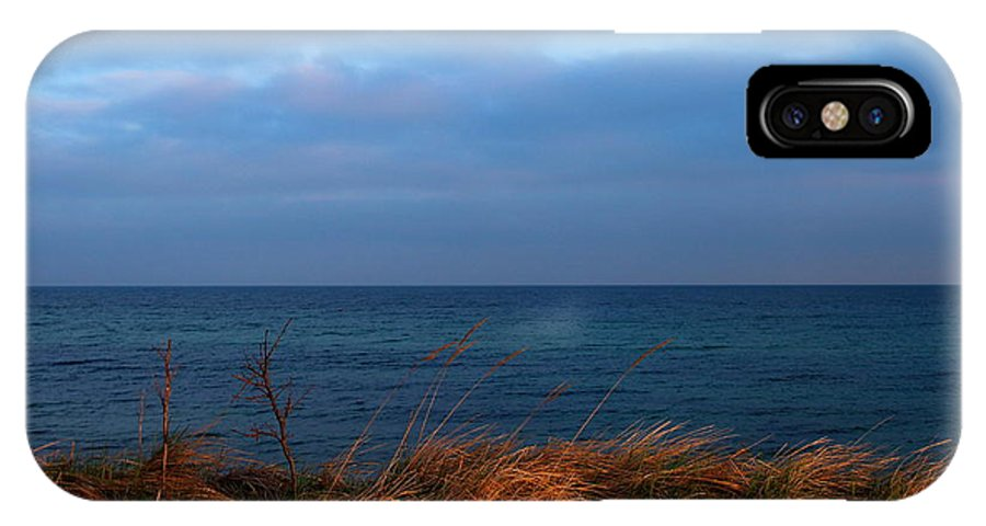 Blue IPhone X Case featuring the photograph Ocean View by Heike Hultsch