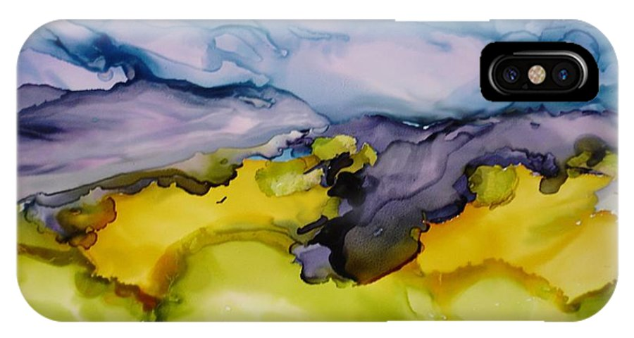 Landscape IPhone X Case featuring the painting Ocean View by Susan Kubes