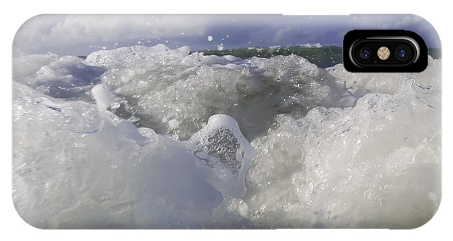 Ocean IPhone X Case featuring the photograph Ocean Waves Comin' At You by Sven Brogren