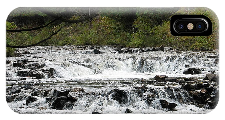 Waterfall IPhone Case featuring the photograph Ocqueoc by Kelly Mezzapelle