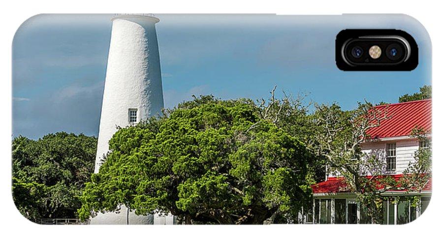 Lighthouse Sea Ocracoke Beach Summer IPhone X Case featuring the photograph Ocracoke Island Lighthouse by Wayne Reynolds