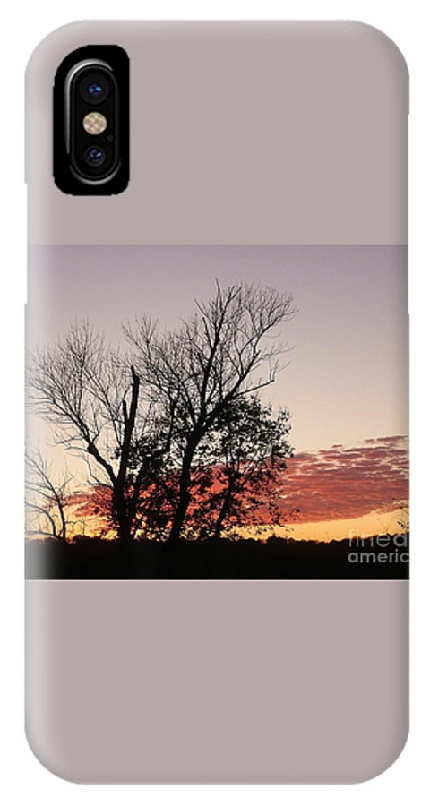 Sunset IPhone X / XS Case featuring the photograph October Evening by Barb Montanye Meseroll
