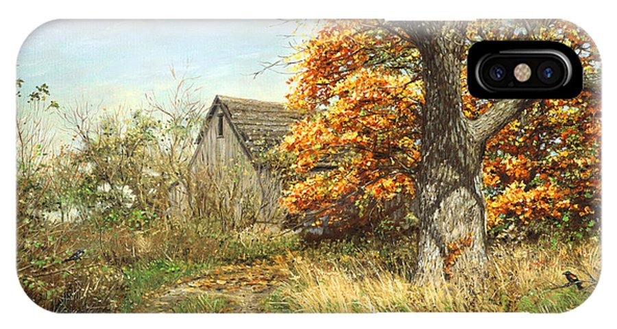 Fall Maple Tree IPhone X Case featuring the painting October Glory by Doug Kreuger