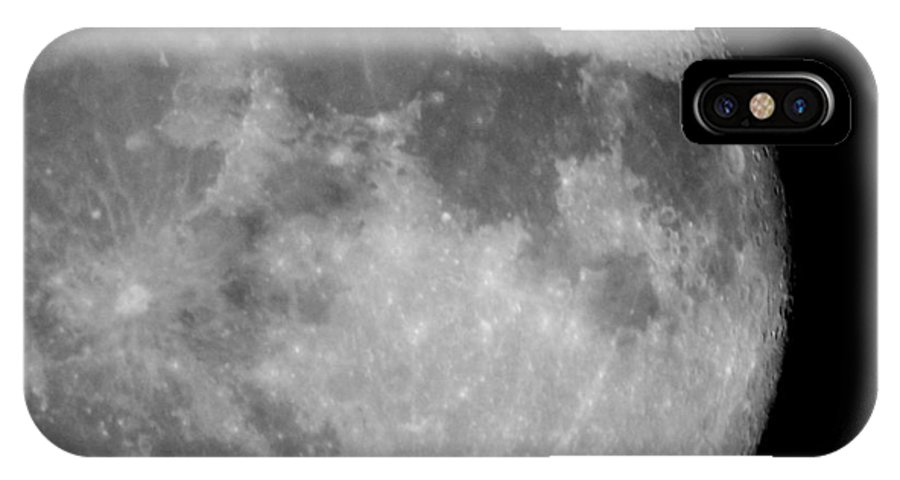 Moon IPhone X Case featuring the photograph October Moon by Betty-Anne McDonald