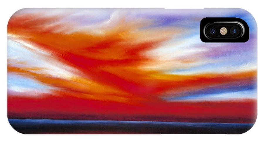 Seascape IPhone X Case featuring the painting October Sky II by James Christopher Hill