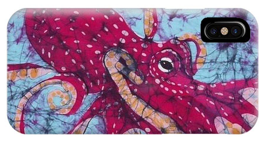 Octopus IPhone X Case featuring the tapestry - textile Octopus by Kay Shaffer