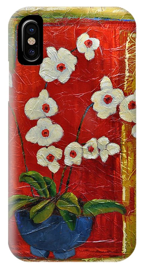 Orchids IPhone X Case featuring the painting Ode To Orchids by Ginger Concepcion
