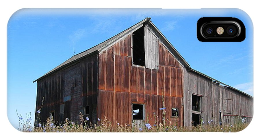 Landscape IPhone X Case featuring the photograph Odell Barn I by Dylan Punke