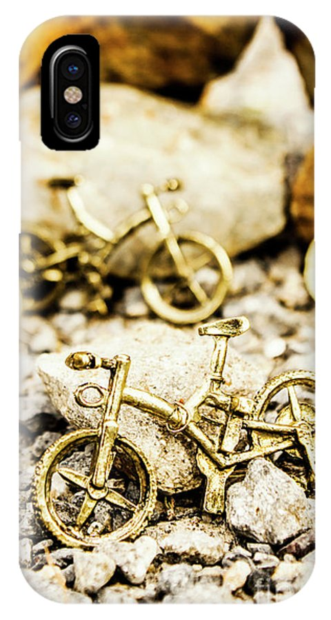 Pendant IPhone X Case featuring the photograph Off Road Bike Trinkets by Jorgo Photography - Wall Art Gallery