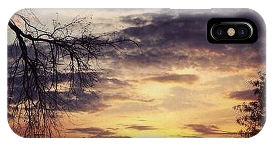 Sunset IPhone X Case featuring the photograph Off The Porch 3 by Luis Davis