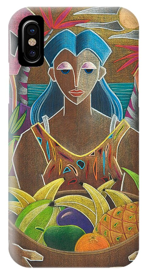 Female IPhone X Case featuring the painting Ofrendas De Mi Tierra by Oscar Ortiz