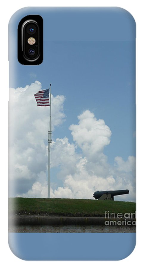 Flag IPhone X Case featuring the photograph Oh Say Can You See by Barb Montanye Meseroll