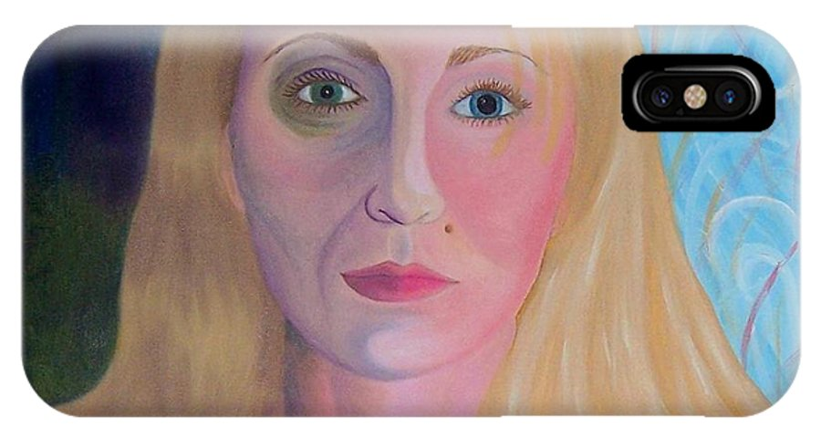 Self Portrait IPhone Case featuring the painting Oil Self Portrait by Emily Young
