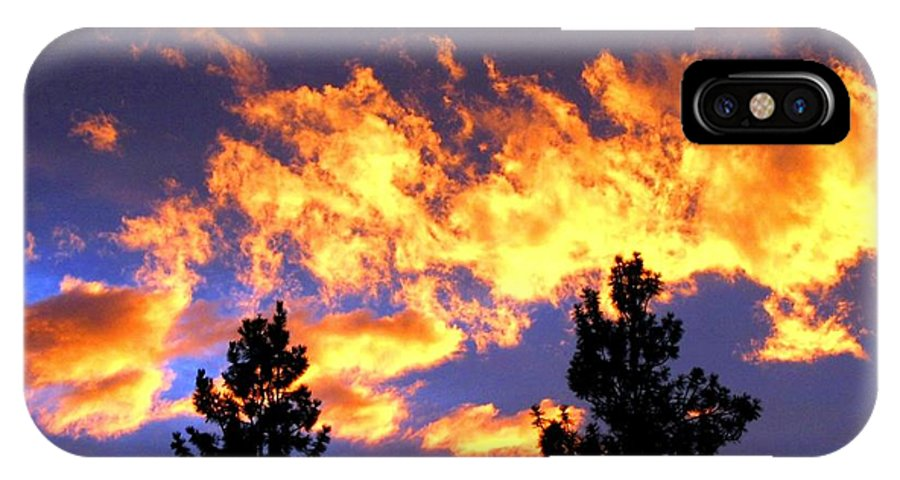 Sunset IPhone X Case featuring the photograph Okanagan Sunset by Will Borden