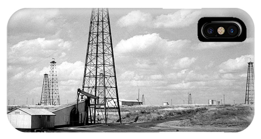Oil Field IPhone X Case featuring the photograph Oklahoma Crude by Larry Keahey