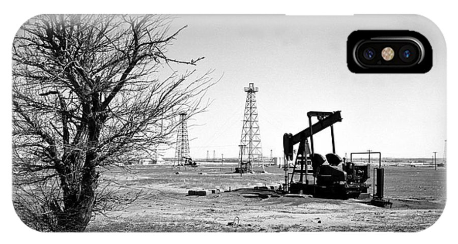 Oil IPhone Case featuring the photograph Oklahoma Oil Field by Larry Keahey