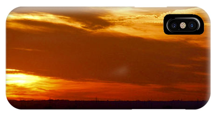 Landscape IPhone Case featuring the photograph Oklahoma Sunset by Larry Keahey