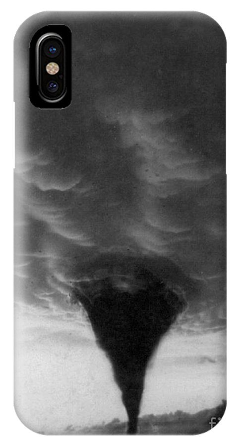 1898 IPhone X Case featuring the photograph Oklahoma Tornado, C1898 - To License For Professional Use Visit Granger.com by Granger