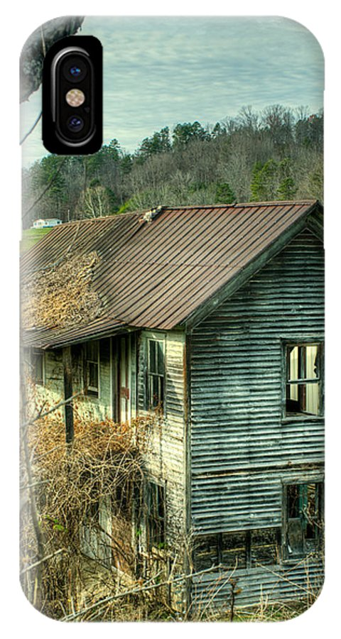 Farm IPhone X / XS Case featuring the photograph Old Abandoned Home by Douglas Barnett
