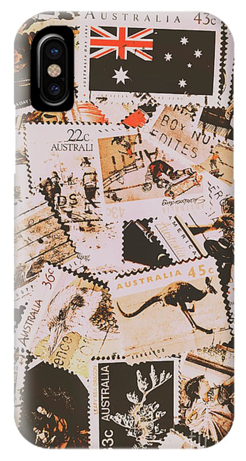 Australia IPhone X Case featuring the photograph Old Australia In Stamps by Jorgo Photography - Wall Art Gallery