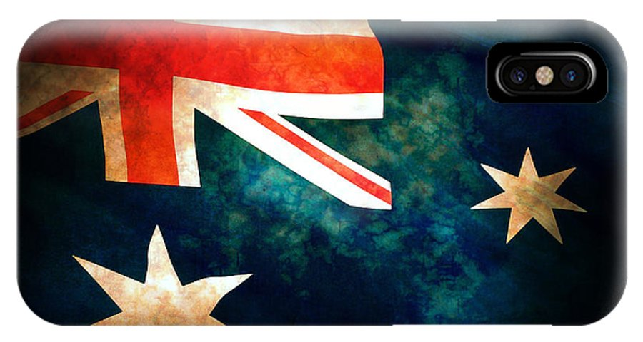Australia IPhone X Case featuring the photograph Old Australian Flag by Phill Petrovic