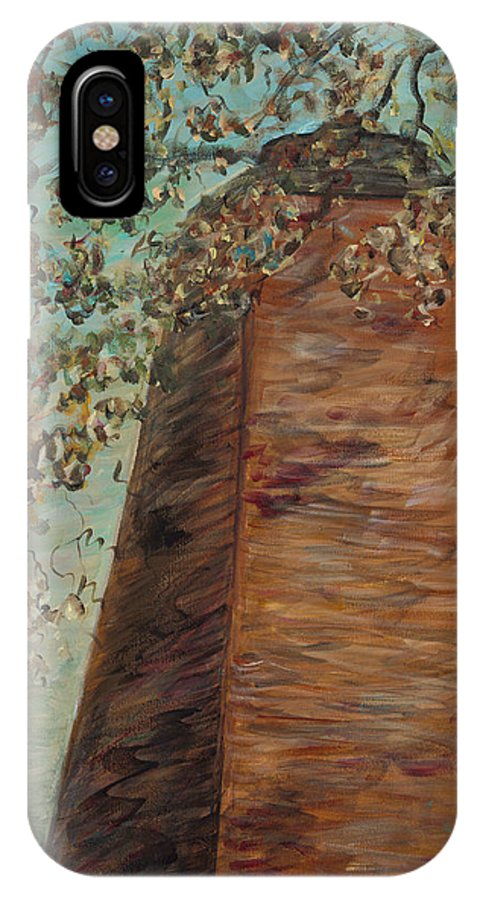 Old Baldy IPhone X Case featuring the painting Old Baldy Light House in Teal by Nadine Rippelmeyer