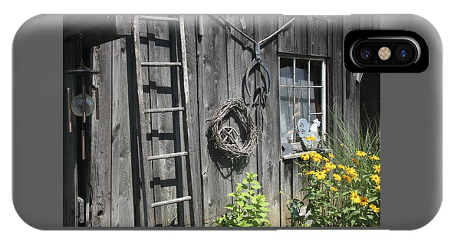 Barn IPhone X Case featuring the photograph Old Barn II by Margie Wildblood
