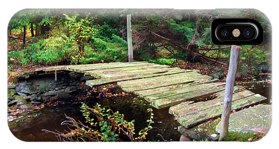 Bridge Old Relic Ancient Broken Decay Derelict Stream River Crossing Forest Woods IPhone X Case featuring the photograph Old Bridge by Francesa Miller
