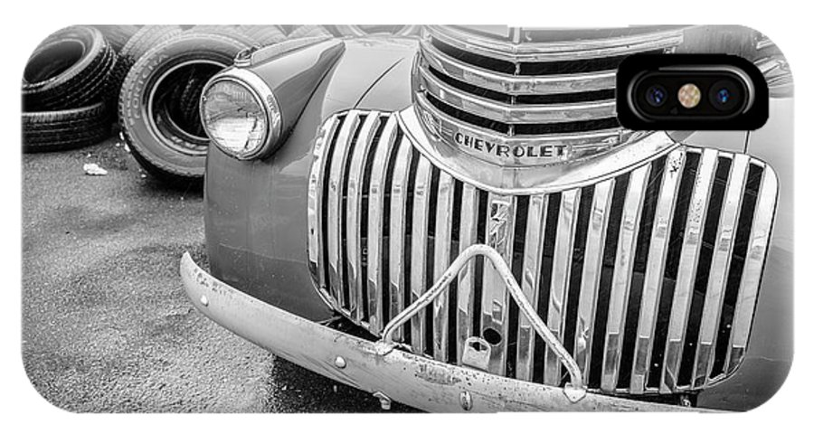 Chevy IPhone X Case featuring the photograph Old Chevy Pickup by Jim Love