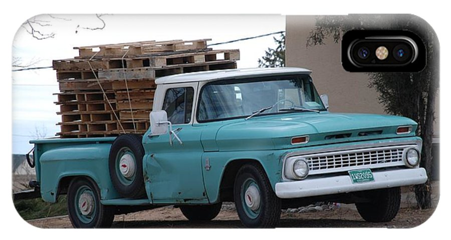 Old Truck IPhone X Case featuring the photograph Old Chevy by Rob Hans