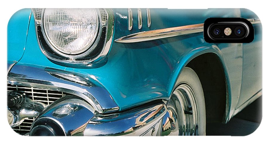 Chevy IPhone X Case featuring the photograph Old Chevy by Steve Karol